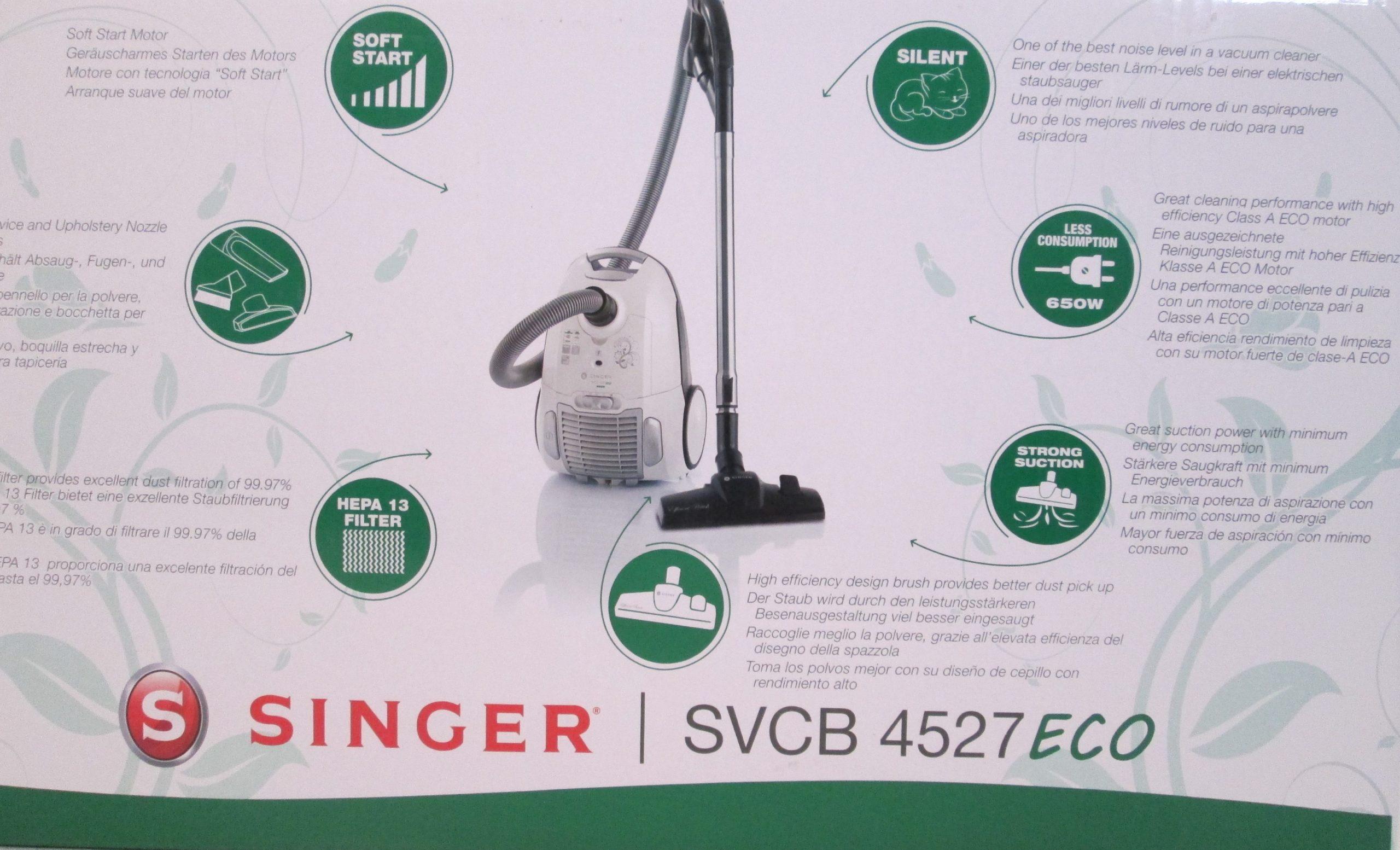 10 Staubsaugerbeutel Für SINGER SVCB 4527